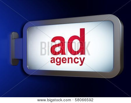 Marketing concept: Ad Agency on billboard background