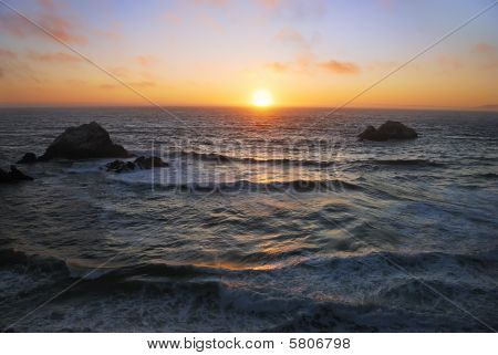 San Francisco Ocean Beach Sunset
