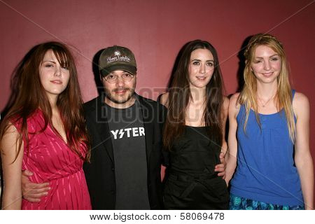 Yvonne Zima and Adam Rifkin with Madeline Zima and Vanessa Zima  at the Preview Screening of