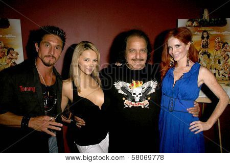 Tommy Gunn and Ashlynn Brooke with Ron Jeremy and Phoebe Price  at the Preview Screening of