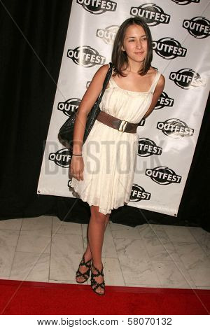 Zelda Williams  at Outfest 2008 Opening Night Gala. The Orpheum Theatre, Los Angeles, CA. 07-09-08
