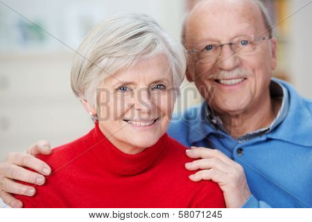 Portrait Of An Attractive Happy Senior Couple