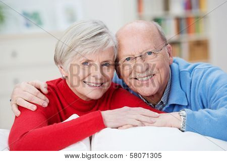 Senior Husband And Wife Smiling Happily
