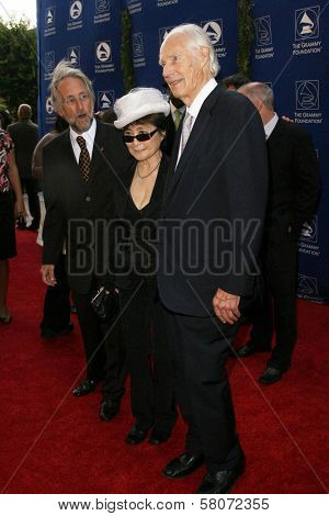 Neil Portnow with Yoko Ono and George Martin  at the Grammy Foundation's Starry Night Gala. University of Southern California, Los Angeles, CA. 07-12-08