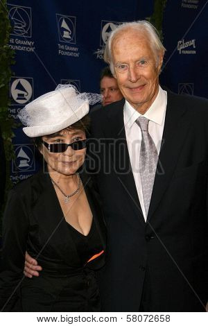 Yoko Ono and George Martin  at the Grammy Foundation's Starry Night Gala. University of Southern California, Los Angeles, CA. 07-12-08