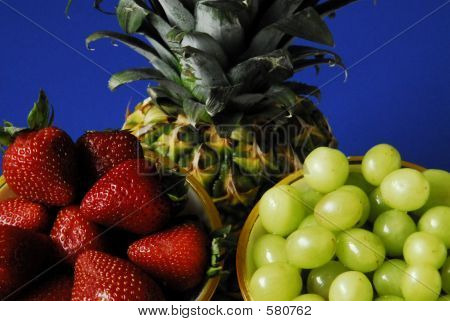 Strawberries Pineapple Grapes