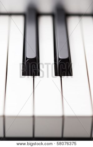 Closeup Of Piano