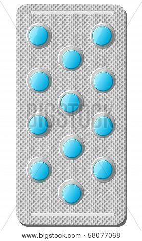 Realistic illustration of pills