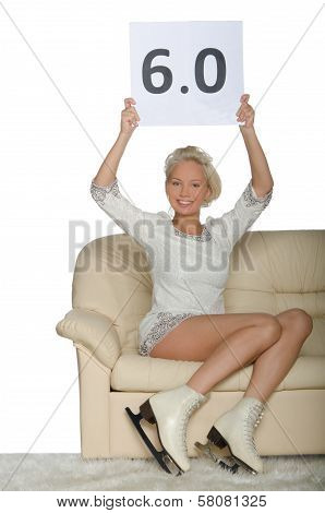 Skater Sitting On A Sofa
