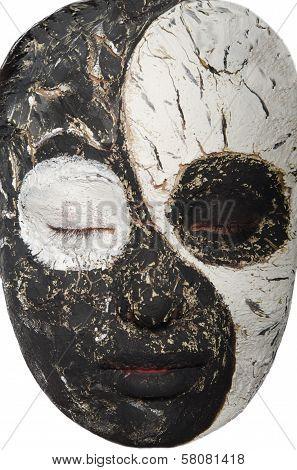 Portrait Of An Oriental Woman In Mask