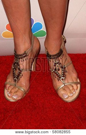 Rochelle Greenwood's shoes  at the NBC Universal 2008 Press Tour All Star Party. Beverly Hilton Hotel, Beverly Hills, CA. 07-20-08