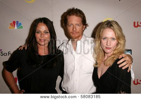 Polly Walker with Eric Stoltz and Paula Malcomson  at the NBC Universal 2008 Press Tour All Star Party. Beverly Hilton Hotel, Beverly Hills, CA. 07-20-08