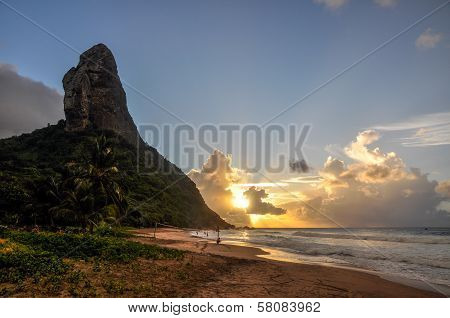 Morro Do Pico At Sunset, Fernando De Noronha, Pernambuco (brazil)