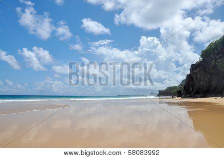Sand Beach On Fernando De Noronha, Pernambuco (brazil)