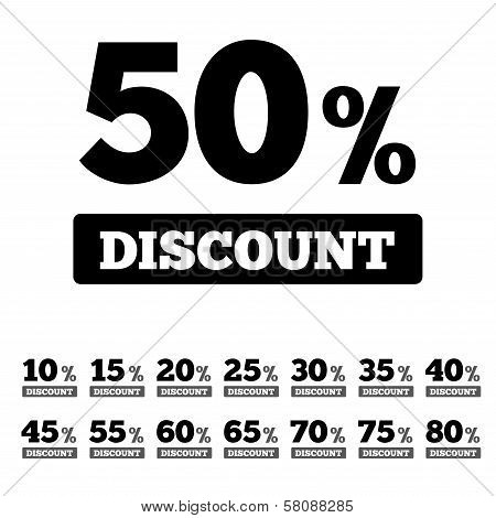 Sale discounts stamps. Special offer stickers.