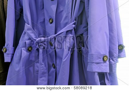 Coats on the hanger