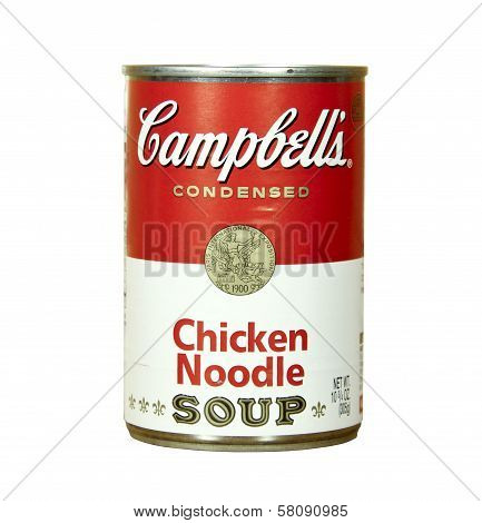 Can Of Campell's Chicken Noodle Soup