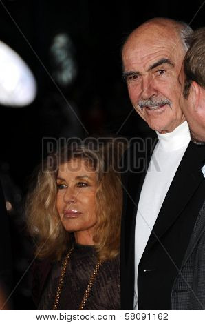 Micheline Roquebrune and Sean Connery  at AFI Night at the Movies presented by Target. Arclight Theater, Hollywood, CA. 10-01-08