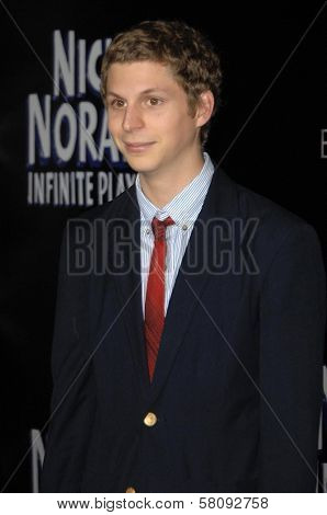 Michael Cera  at the Los Angeles Premiere of 'Nick and Norah's Infinite Playlist'. Arclight Hollywood, Hollywoood, CA. 10-02-08