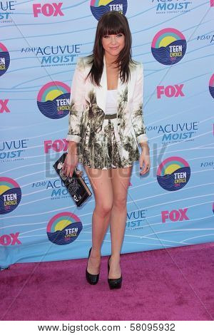Carly Rae Jepsen at the 2012 Teen Choice Awards Arrivals, Gibson Amphitheatre, Universal City, CA 07-22-12