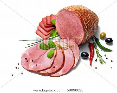 Ham with herbs