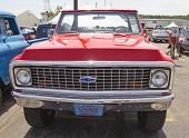 Red Chevy K5 Blazer Front View