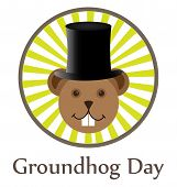 pic of groundhog day  - Illustration of Groundhog Day two dedicated in February - JPG