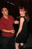 Kyle T. Heffner and Jenny McShane at the birthday party for J. Nathan Brayley, Amagis, Hollywood, CA