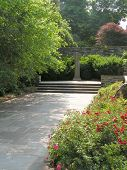 picture of fieldstone-wall  - Meditative garden on the grounds of a Philadelphia church - JPG