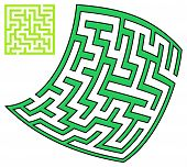 Green Square And Deformed Maze (10X10)