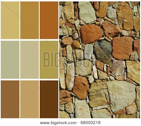 stone color palette swatches with complimentary