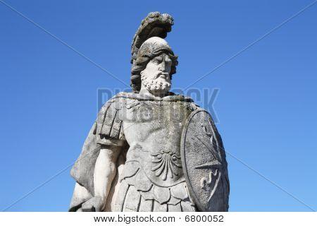 Italy, Como: warrior statue in Villa Olmo's gardens