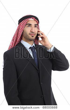 Arab Saudi Businessman Talking On The Mobile Phone