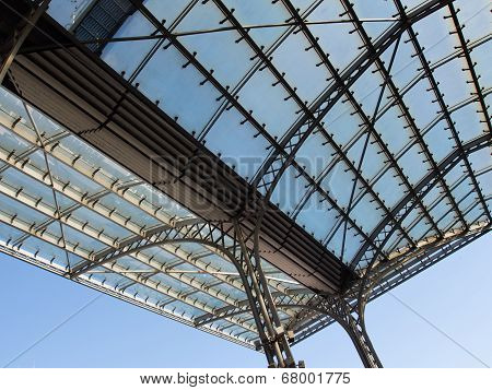 The Glass Roof Of The Station In The Sunshine