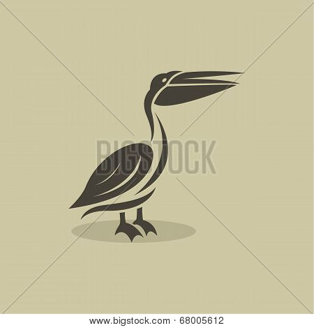 Vector Image Of An Billed Stork