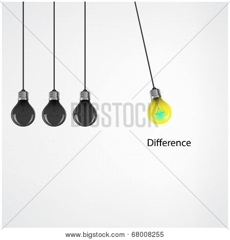 Creative Light Bulb Idea Concept On Background
