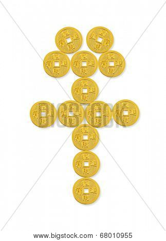 Golden RMB Symbol