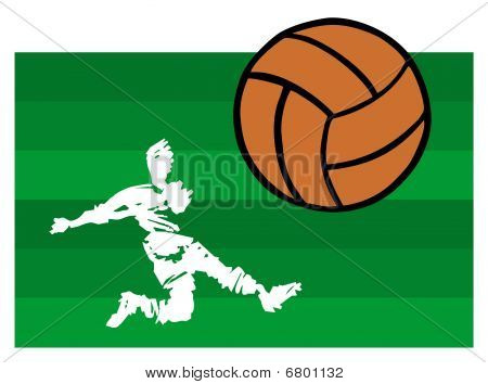 Soccer Players Big Shot
