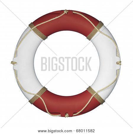Life ring on White