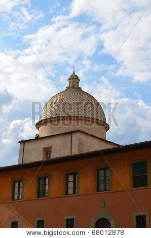 Italy, Pisa cupola at the monumental cemetery
