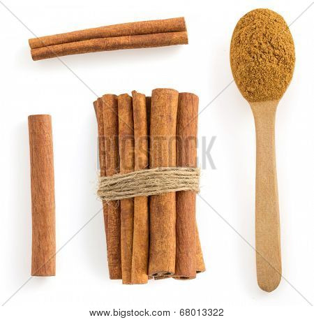 cinnamon stick isolated on white background