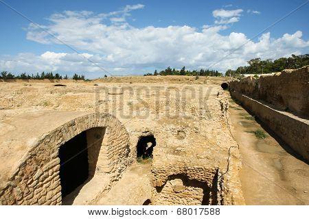 Roman Aqueduct Near Carthage
