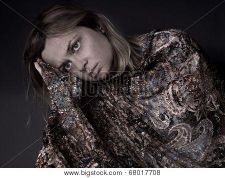 worried, sad woman