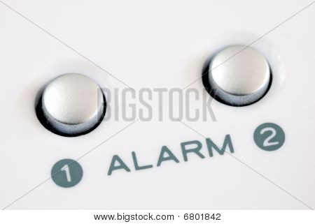 Alarm buttons concepts for alarm clock and emergency alarm
