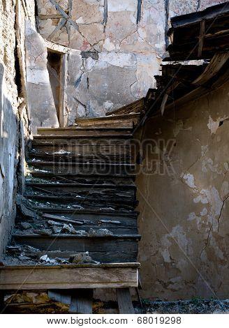 Abandoned Damaged Stairs
