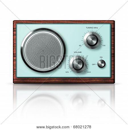 Modern Portable Radio Retro Style