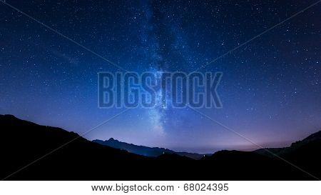 night sky stars. Milky Way