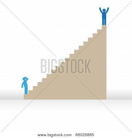 Success man vector graphic