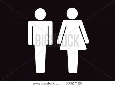 Pictogram Man Woman Sign icons