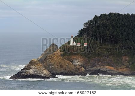 Lighthouse On Heceta Head